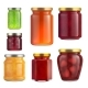 Fruit Jam Jar Glass Isolated on White Background. - GraphicRiver Item for Sale