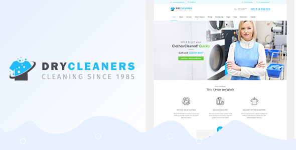 Dry Cleaning | laundry, Washing and Ironing WordPress Theme
