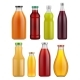 Juice Bottle Glass Isolated on White Background - GraphicRiver Item for Sale
