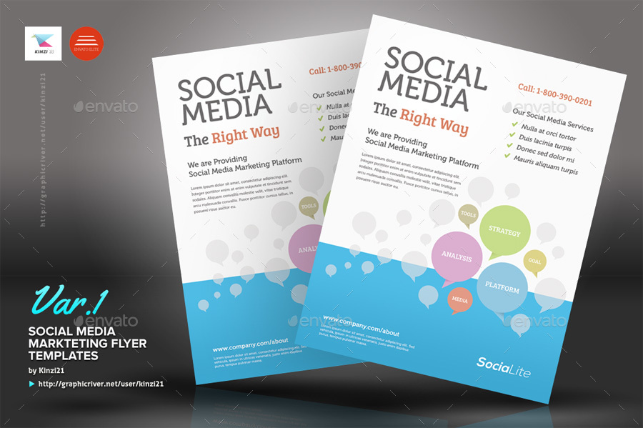 Social Media Marketing Flyer By Kinzi  Graphicriver