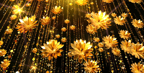 Gold flowers background by as100 videohive gold flowers background mightylinksfo