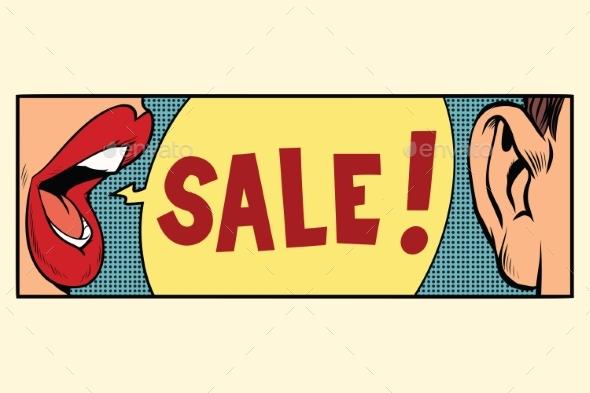 Rumors About a Sale, Pop Art Concept - Business Conceptual