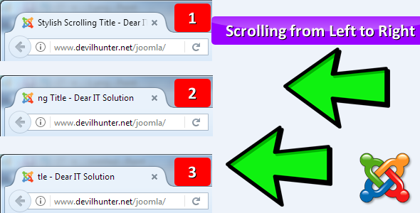 Stylish Scrolling Title - Joomla website's Title ​​​will ​auto scroll from left to right - CodeCanyon Item for Sale