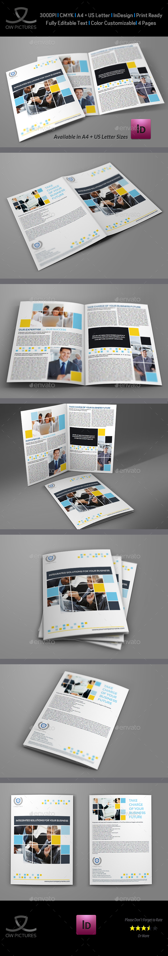 Company Brochure Bi-Fold Template Vol.6 - Corporate Brochures