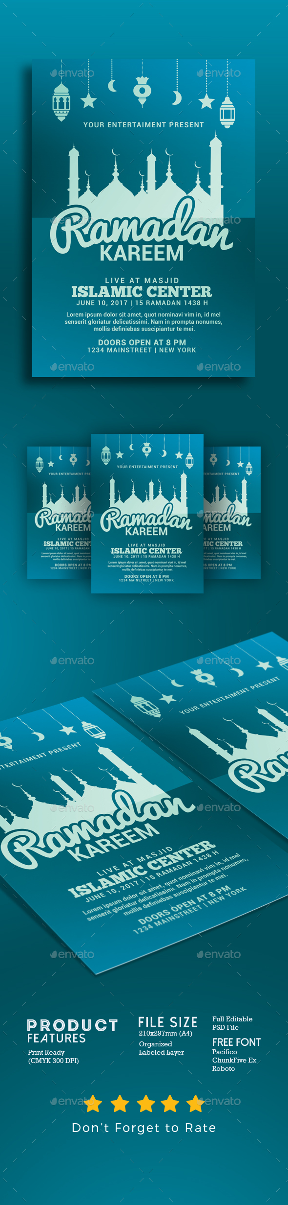 Ramadan Kareem Flyer - Events Flyers