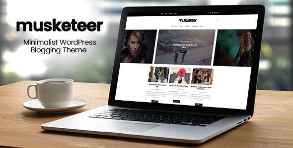 Musketeer - Minimalist Blogging WordPress Theme
