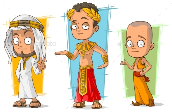 Cartoon Arabian Egyptian and Asian Character Set - Miscellaneous Characters