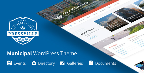 Pressville – Municipal WordPress Theme