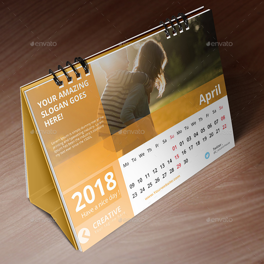desk calendar 2018 by creative_solution graphicriver