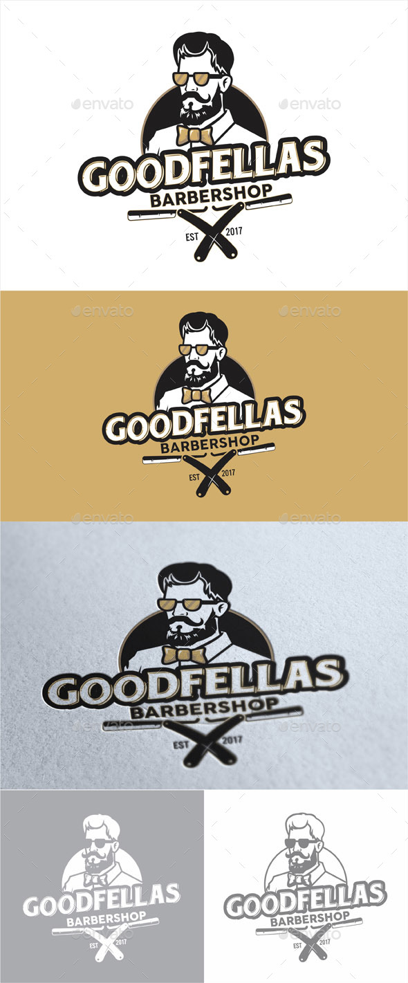 Goodfellas Barbershop - Company Logo Templates