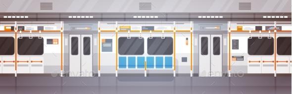 Empty Subway Car Interior - Miscellaneous Vectors