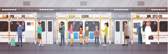Passengers in Subway - Miscellaneous Vectors