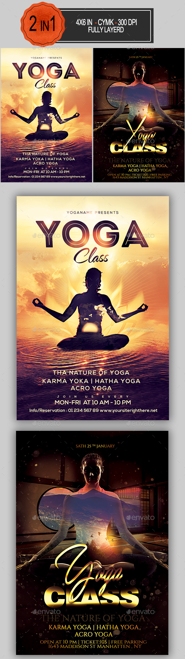 Yoga Flyer Bundle - Sports Events