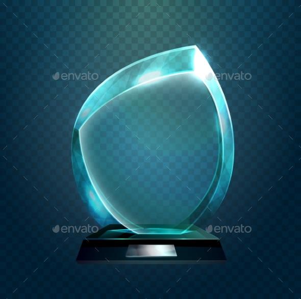 Sport Trophy or Transparent Achievement Sign - Miscellaneous Vectors