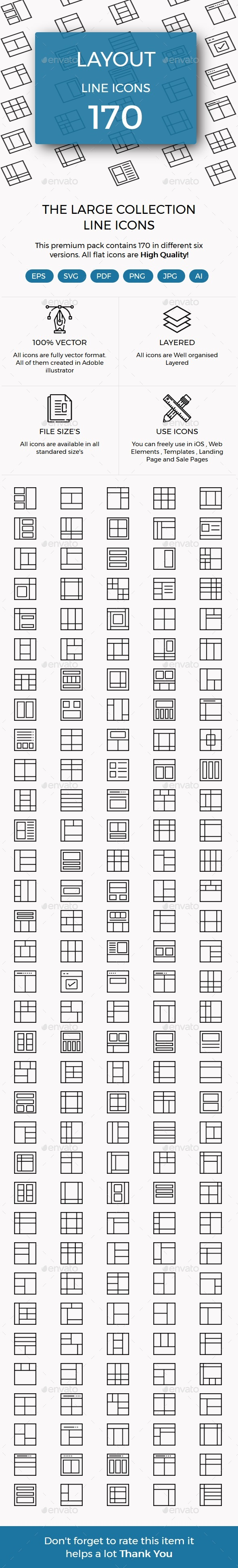 Layouts Line Icons - Icons