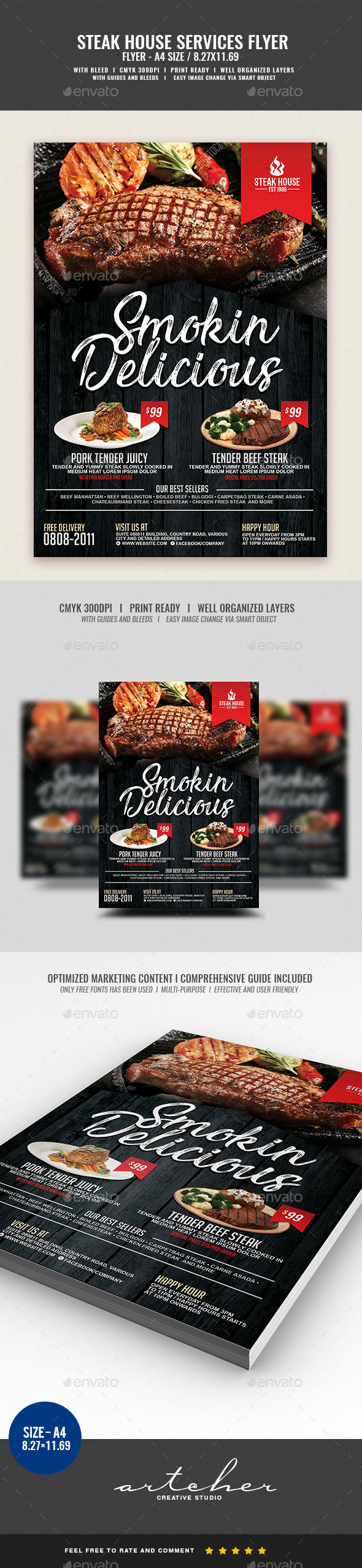 Steakhouse Restaurant Flyer v2