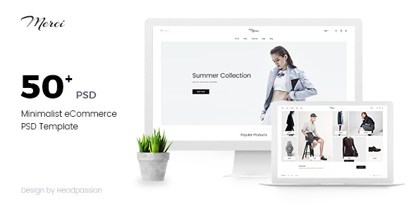 Merci | Minimalist eCommerce PSD Template - Shopping Retail