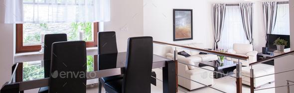 Spacious elegant house - Stock Photo - Images