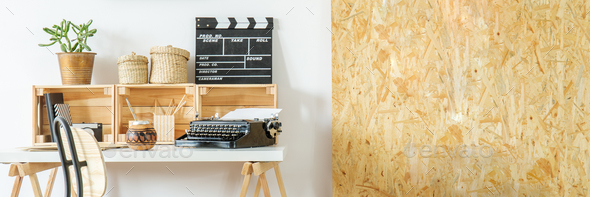 Workspace with osb wall - Stock Photo - Images