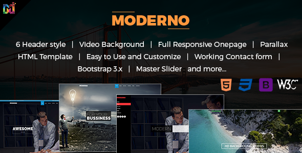 Modern - Responsive Multipurpose HTML Template - Business Corporate