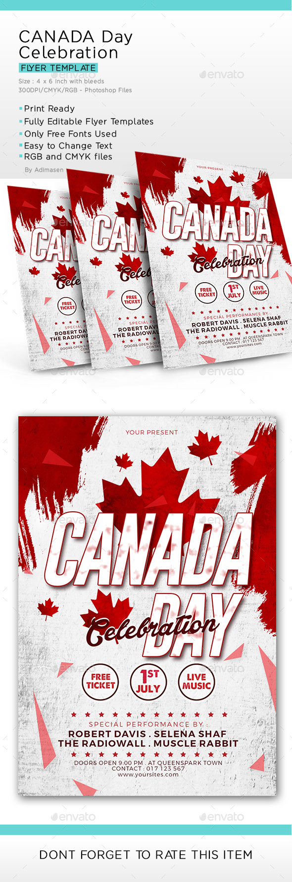 Canada Day - Flyers Print Templates