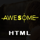 Awesome  - Responsive Onepage Parallax HTML Template - ThemeForest Item for Sale