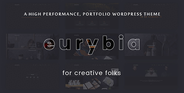 Eurybia - Creative Portfolio WP Theme - Creative WordPress