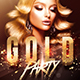 Classy Gold Party - Flyer Template - GraphicRiver Item for Sale