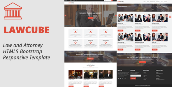 LawCube – Law and Attorney Responsive HTML5 Template