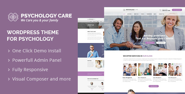Psychology Care : Psychology & Counseling WordPress Theme