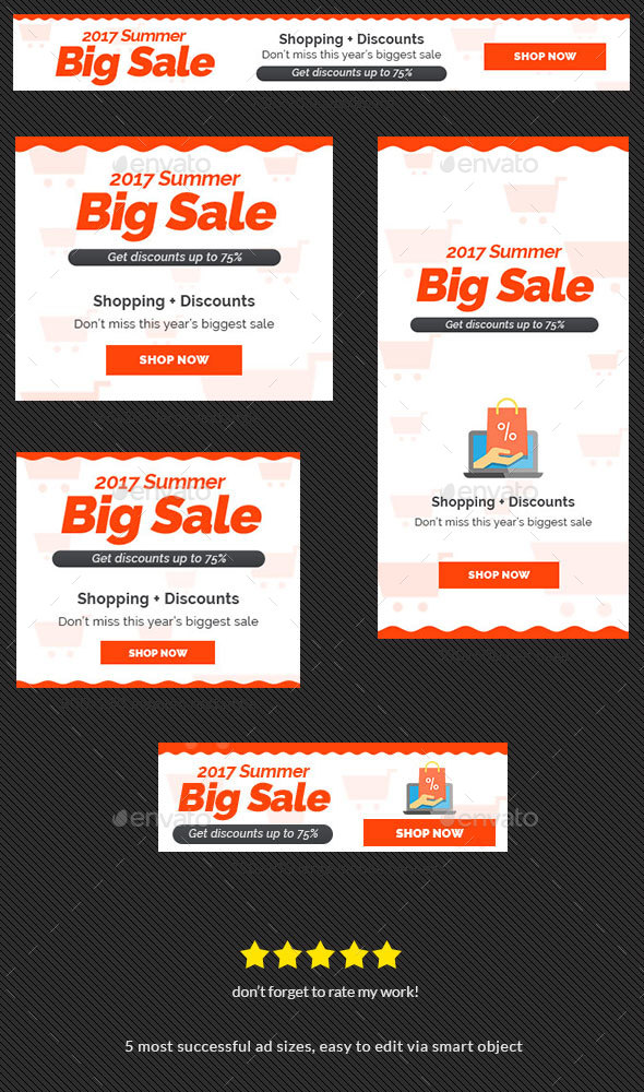 Shopping Sale Web Banner Ad - Banners & Ads Web Elements