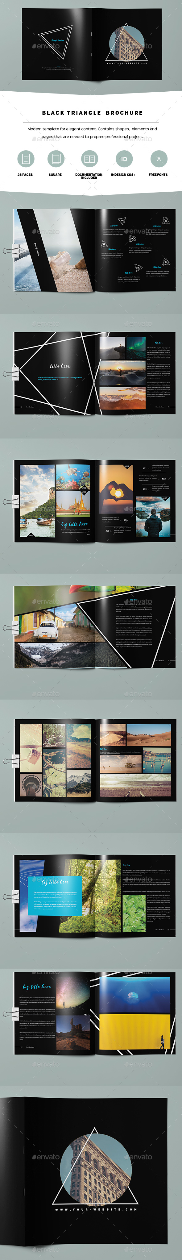 Black Square Brochure - Portfolio Brochures