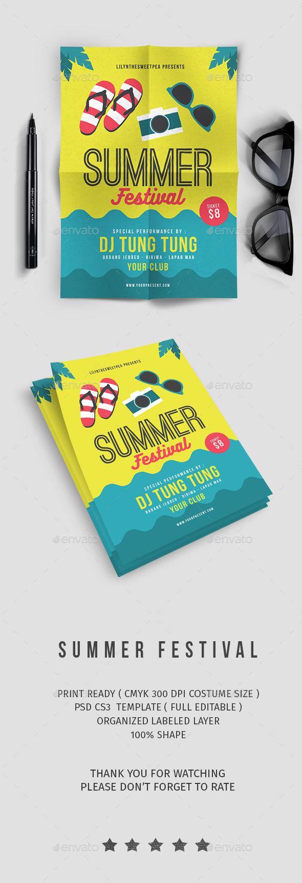 Summer Party Flyer vol. 8 - Flyers Print Templates