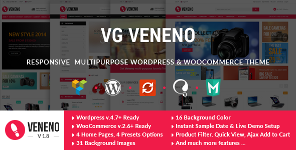 VG Veneno - Multipurpose WooCommerce Theme - WooCommerce eCommerce
