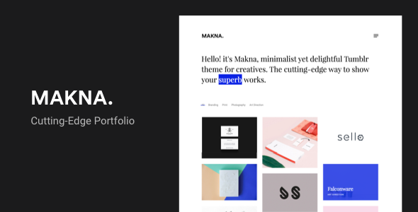 Makna | Minimalist and Delightful Portfolio Tumblr Theme
