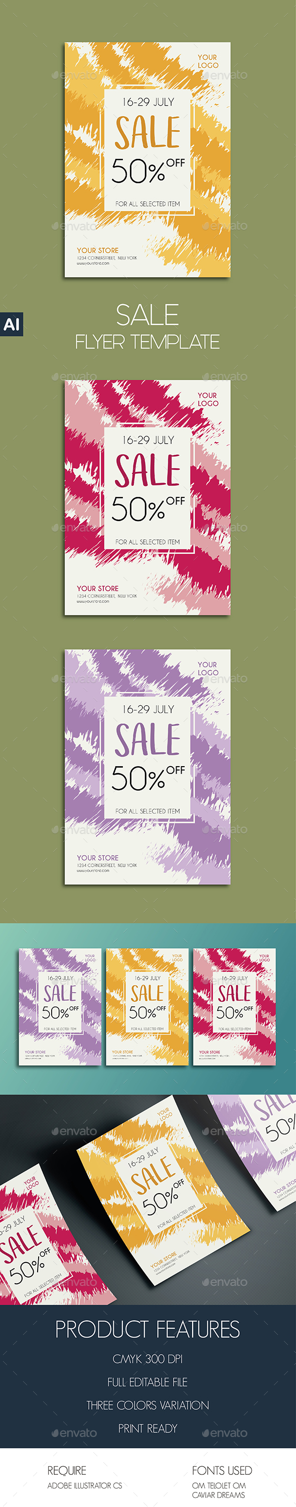 Sale Flyer Template - Commerce Flyers