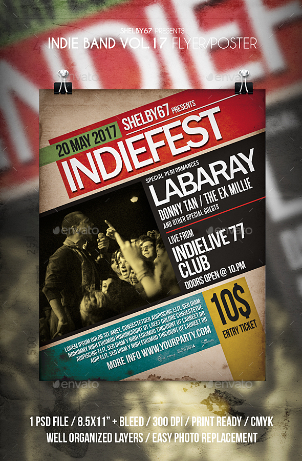 Indie Band Flyer / Poster Vol 17 - Events Flyers
