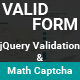 ValidForm - jQuery validation and Math Captcha Form