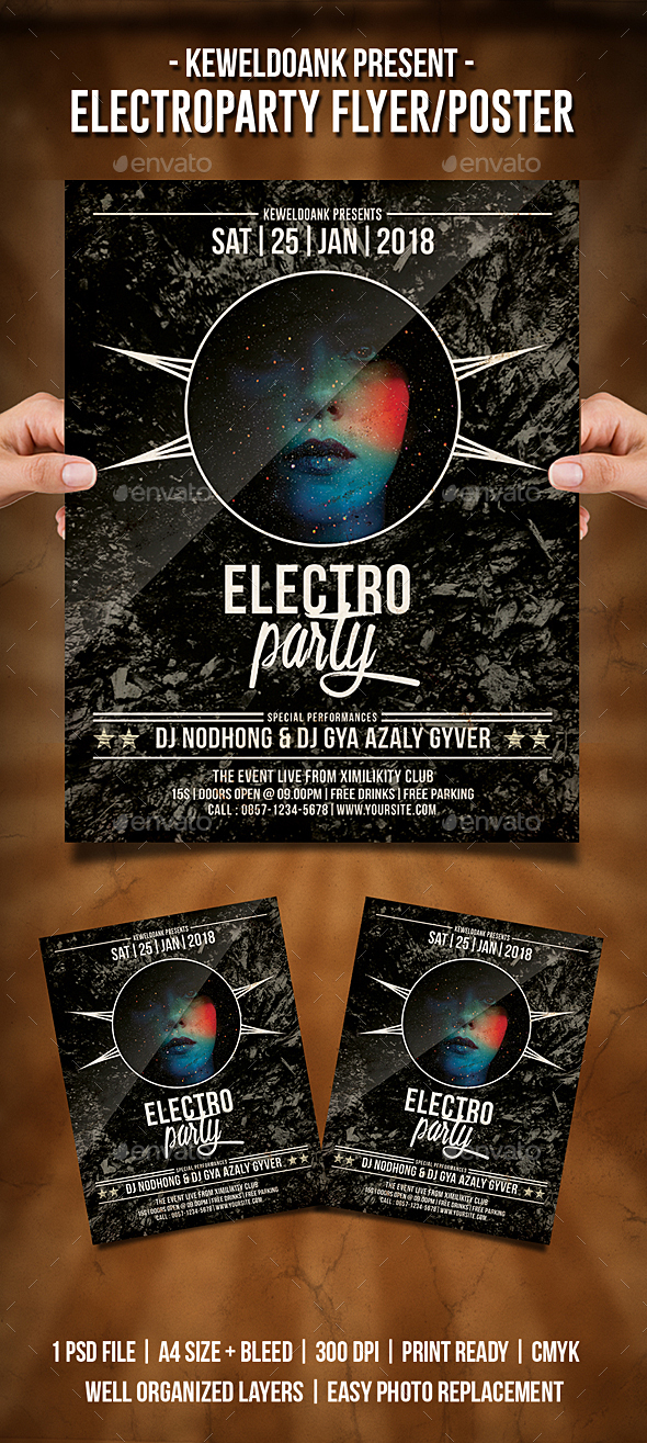 Electro Party Flyer / Poster - Clubs & Parties Events