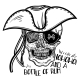 Human Skull and Hat
