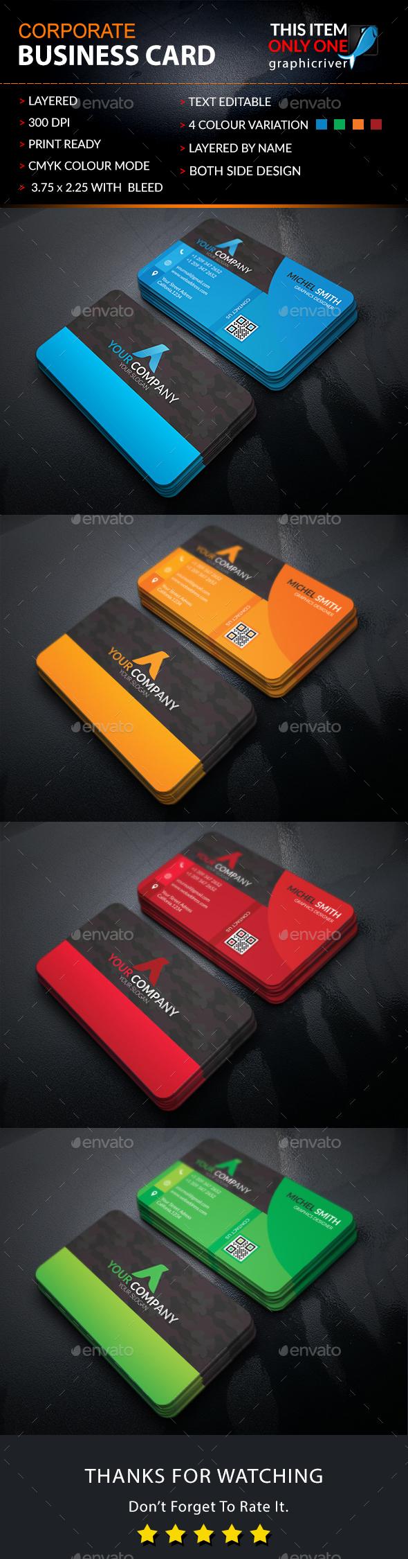 Corporate Business Card v2 - Corporate Business Cards