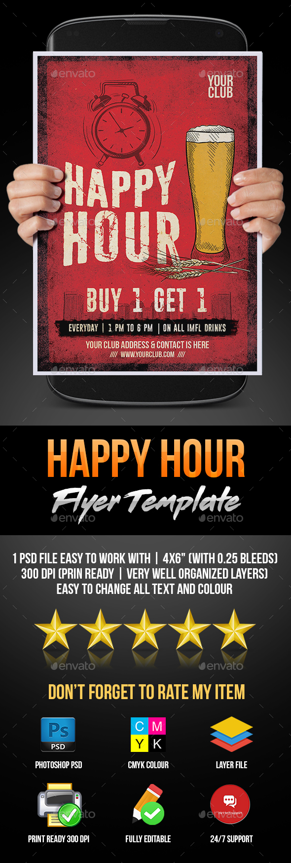 Happy Hour - Flyers Print Templates