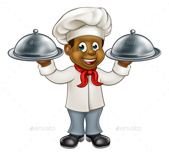 Chef Cartoon Character - Food Objects