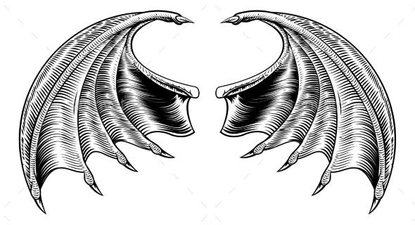 Bat or Dragon Wings - Animals Characters