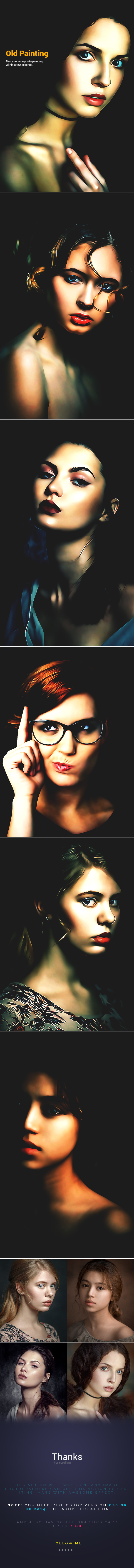 Artistic Oil Paint - Photo Effects Actions