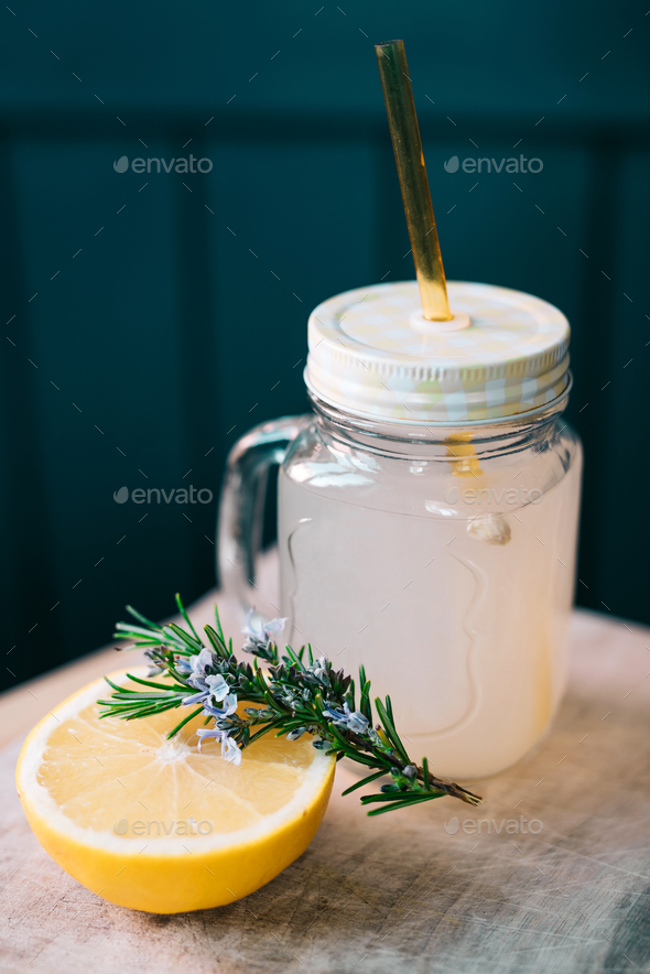 Rosemary and grapefruit drink - Stock Photo - Images
