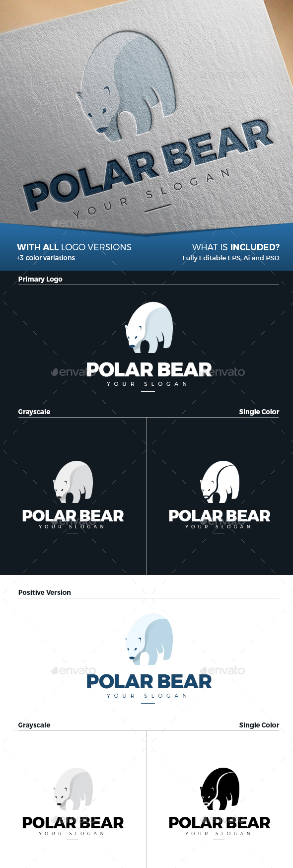 Polar Bear - Animals Logo Templates
