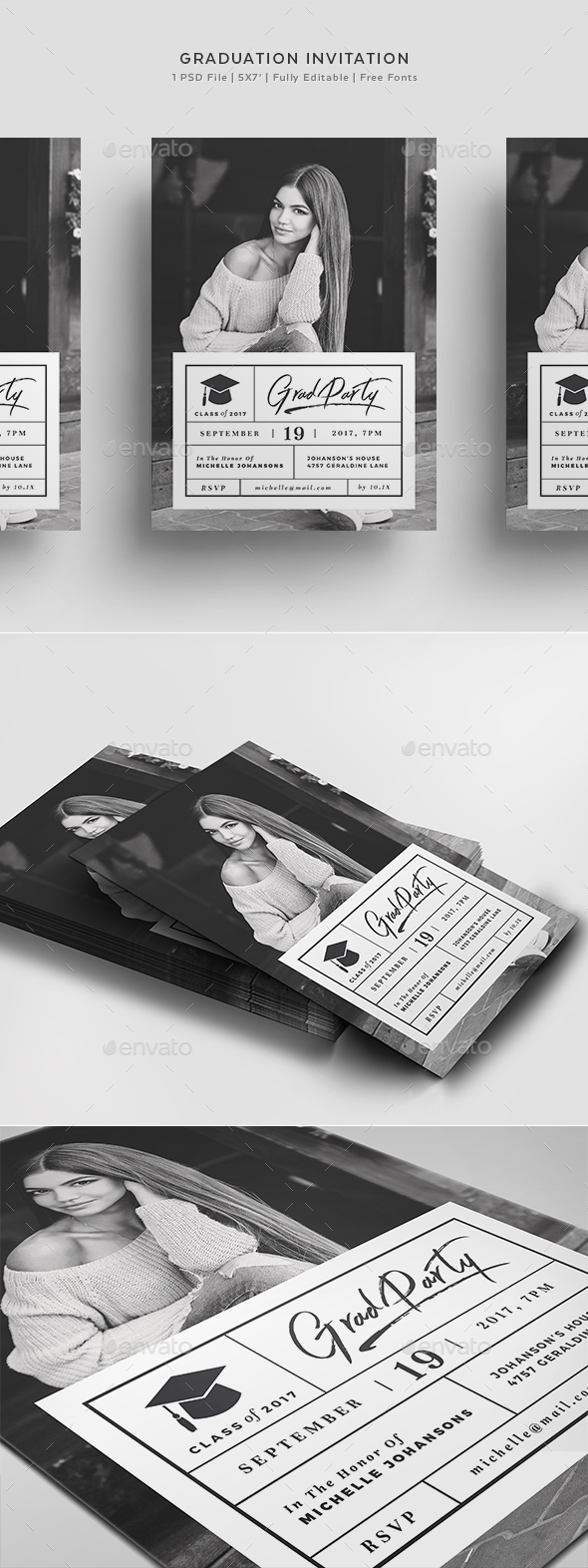 Graduation Invitation Template by Agape_Z | GraphicRiver