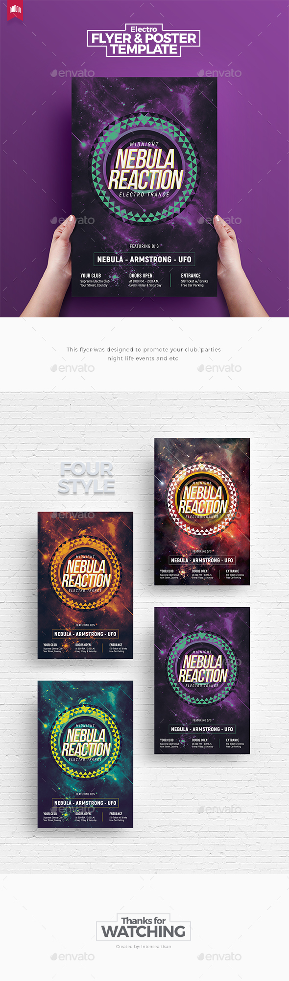 Nebula Reaction - Flyer Template - Clubs & Parties Events