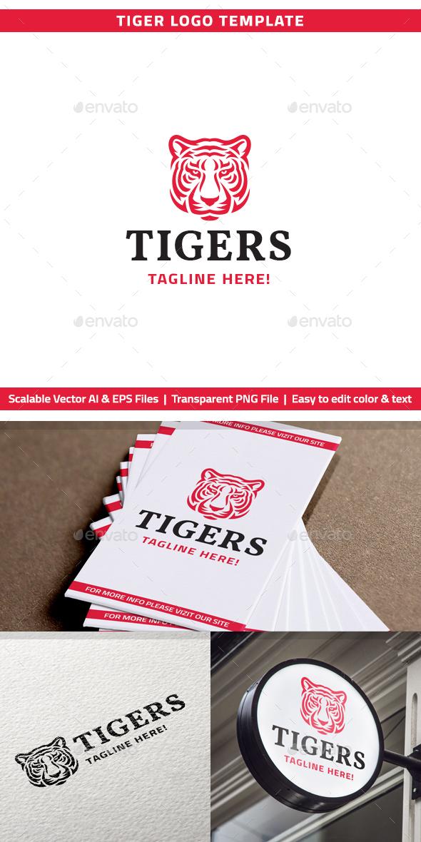 Red Tiger Logo - Animals Logo Templates